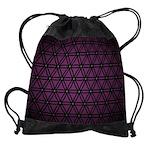 Drawstring Bag Purple Flower Of Life