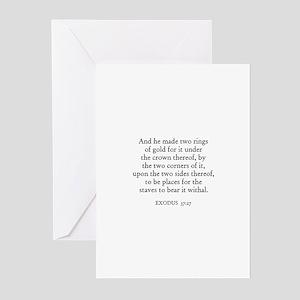EXODUS  37:27 Greeting Cards (Pk of 10)