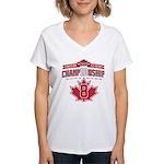 2010 Championship Women's V-Neck T-Shirt