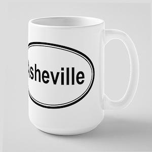 Asheville (oval) Large Mug