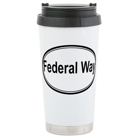 Federal Way (oval) Stainless Steel Travel Mug