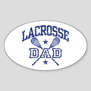 Lacrosse Dad Sticker (Oval)