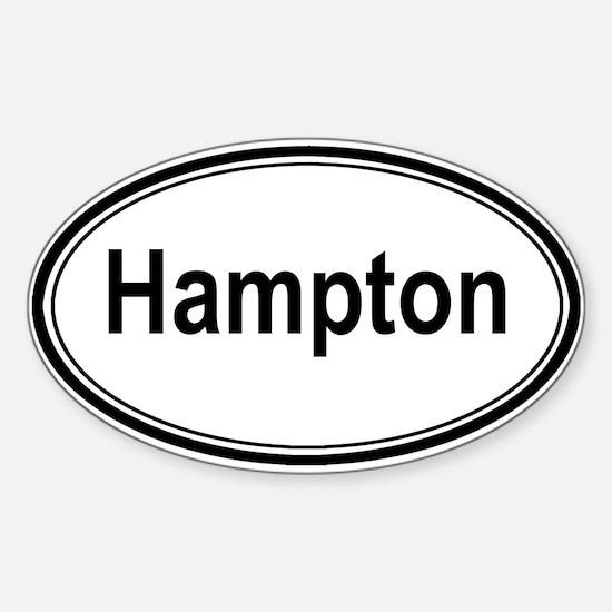 Hampton (oval) Oval Decal