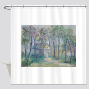 At Home in Marineland, Florida Shower Curtain