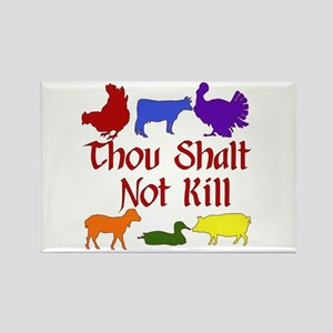 Thou Shalt Not Kill Rectangle Magnet