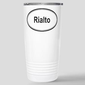 Rialto (oval) Stainless Steel Travel Mug