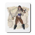 Pirate Girl 2 Mousepad