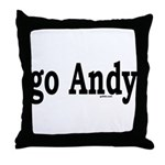 go Andy Throw Pillow