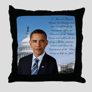 Inaugural Oath Throw Pillow