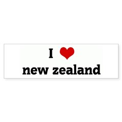 I Love new zealand Bumper Sticker (10 pk)