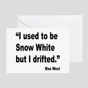 Sexy sayings erotic quotes greeting cards cafepress mae west snow white quote greeting card m4hsunfo
