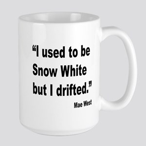 Mae West Snow White Quote Large Mug