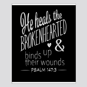 Psalm 147:3 Bible Verse Word Art Posters