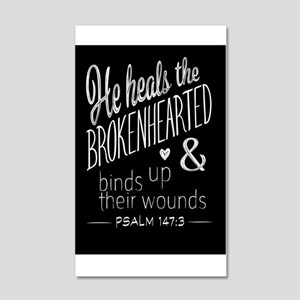 Psalm 147:3 Bible Verse Word Art Wall Decal