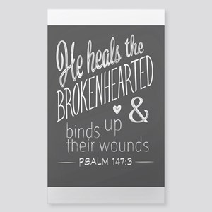 Psalm 147:3 Bible Verse Word Art Sticker