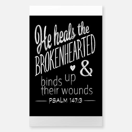 Psalm 147:3 Bible Verse Word Art Decal