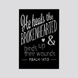 Psalm 147:3 Bible Verse Word Art Magnets