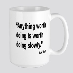 Mae West Slow Quote Large Mug