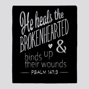 Psalm 147:3 Bible Verse Word Art Throw Blanket