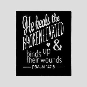 Psalm 147:3 Bible Verse Word Art Throw Blanket