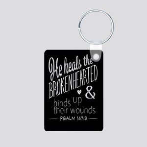 Psalm 147:3 Bible Verse Word Art Keychains