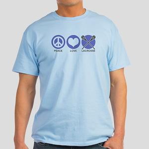Peace Love Lacrosse Light T-Shirt