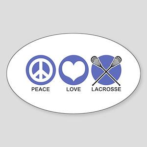 Peace Love Lacrosse Oval Sticker