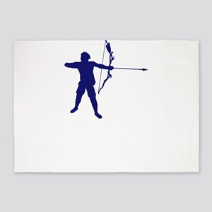 Sports Archery I Do My Own Stunts A 5'x7'Area Rug