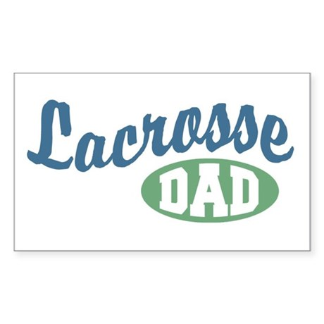 Lacrosse Dad Rectangle Sticker