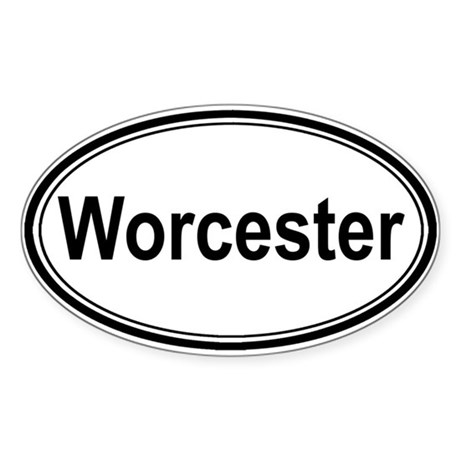 Worcester (oval) Oval Sticker