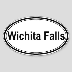 Wichita Falls (oval) Oval Sticker