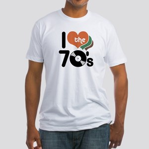 I Love the 70's Fitted T-Shirt