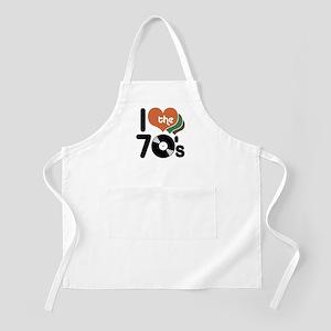 I Love the 70's BBQ Apron
