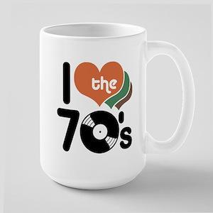 I Love the 70's Large Mug