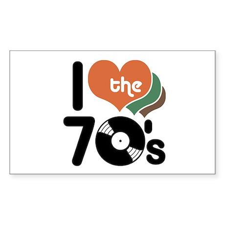 I Love the 70's Rectangle Sticker
