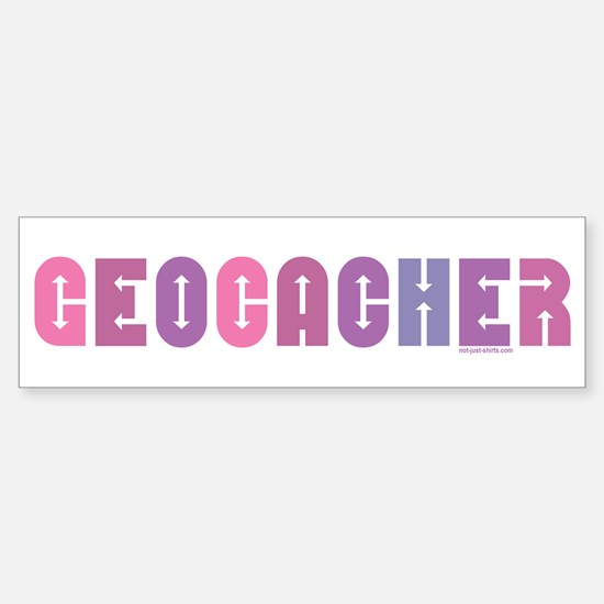 Geocacher Arrows Pinks Bumper Bumper Bumper Sticker
