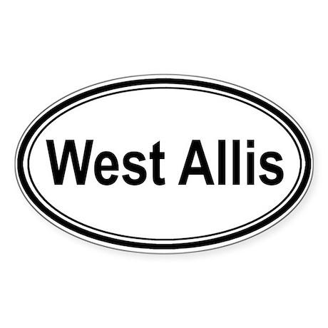 West Allis (oval) Oval Sticker