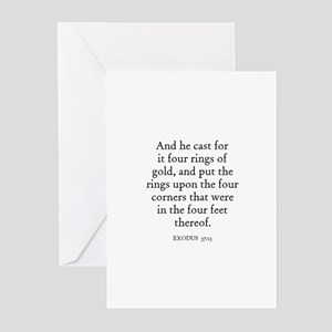 EXODUS  37:13 Greeting Cards (Pk of 10)
