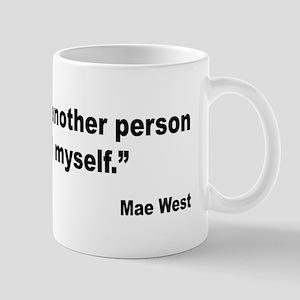 Mae West Love Myself Quote Mug