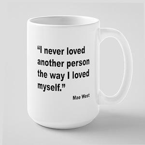 Mae West Love Myself Quote Large Mug