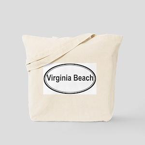 Virginia Beach (oval) Tote Bag