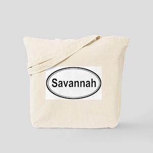 Savannah (oval) Tote Bag