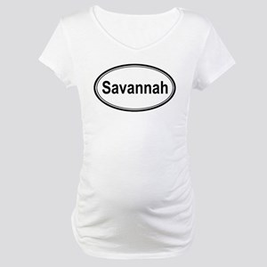 Savannah (oval) Maternity T-Shirt