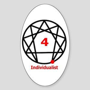 Type 4 Individualist Oval Sticker