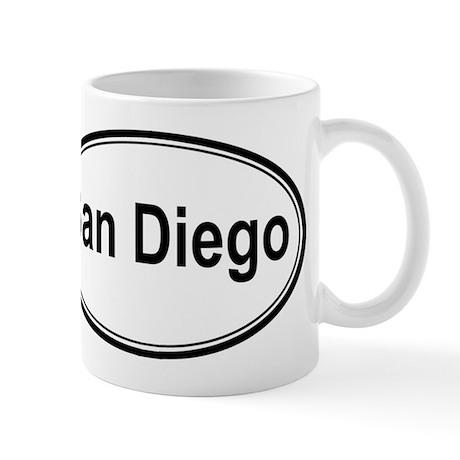 San Diego (oval) Mug
