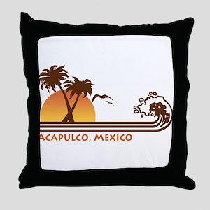 Acapulco Mexico Throw Pillow