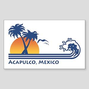 Acapulco Mexico Rectangle Sticker