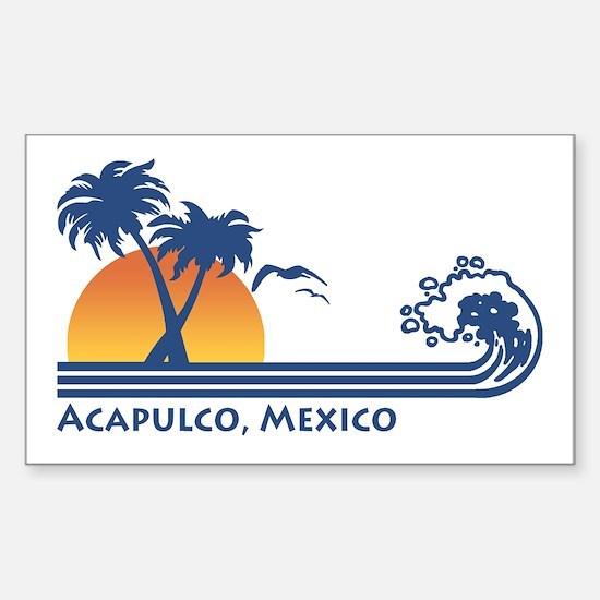 Acapulco Mexico Rectangle Decal