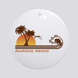 Acapulco Mexico Ornament (Round)