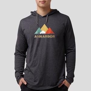 Retro City of Ann Arbor Mounta Long Sleeve T-Shirt